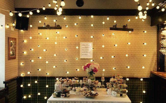 LED lempuciu girlaidų nuoma vestuvėms